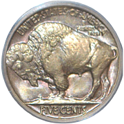 United States Buffalo Nickel Coin - 1938-D - MS-66 - Slabbed