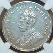 South Africa 2.5 Shilling Silver Coin - 1923 - PF-62 - Slabbed