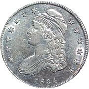 United States Silver Half Dollar Coin - 1834