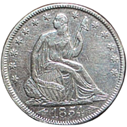 "United States Silver Half Dollar ""Arrows"" Coin - 1854"