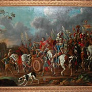 "Superior Italian Oil on Canvas, ""Triumphant"""