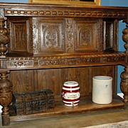 Highly Carved English Court Cupboard