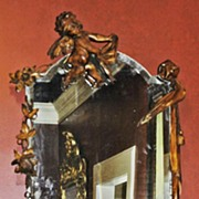 Continental Carved Walnut Mirror