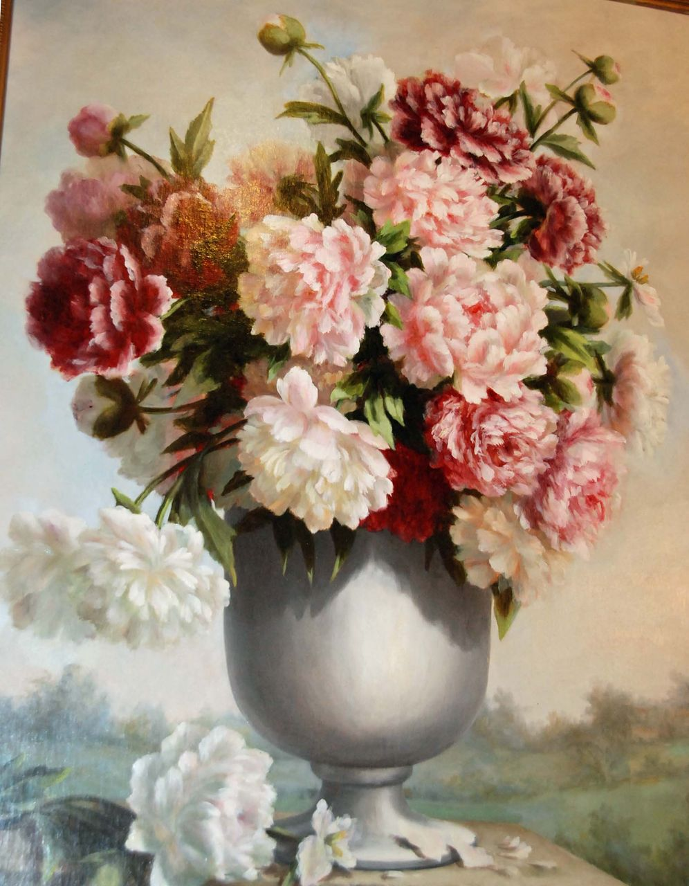 "Stunning ""Urn with Flowers"""