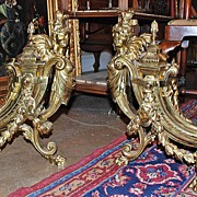 Gorgeous Pair of Louis XVI Gilt Bronze Chenets