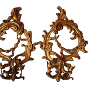 Elaborate Italian Gilt Sconces