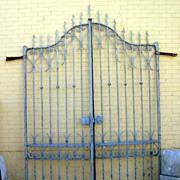 Massive Italian Iron Entrance Gate