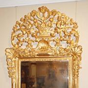 French Gilt Beveled Mirror