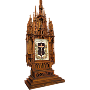 SOLD Unusual Gothic Altar Piece with Crucifix
