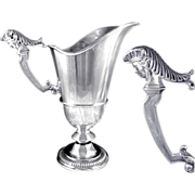 SOLD Antique French Sterling Silver Ewer / Hanap Regence Style 1180 Gr.