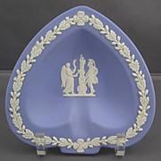 Wedgwood Blue Jasperware Small Spade Shape Ashtray