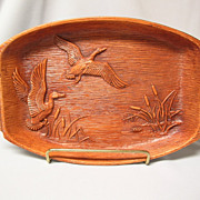 Multi Prod. Inc. Decorative Tray with Marsh Scene and Ducks