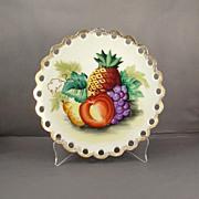 Ucagco Japan Handpainted Pineapple and Fruit Porcelain Plate