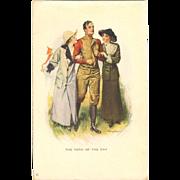 Artist Signed Postcard - Will Grefe Football Hero - 1912
