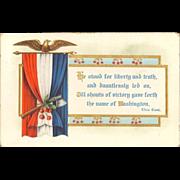 Embossed and Gilded Washington's Birthday Postcard