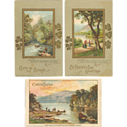 SOLD Embossed and Gilded John Winsch St. Patrick's Day Postcard Trio
