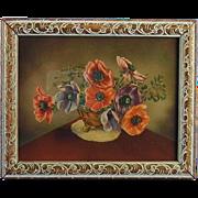 Anemone Print in Art Deco Frame