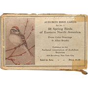 SOLD Audubon Bird Cards - Fifty Spring Birds of Eastern North America