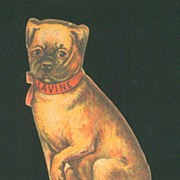 Victorian Die Cut Advertising Trade Card - Lavine Soap - Puppy