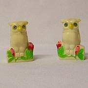 Vintage Plastic Owls Salt & Pepper Set