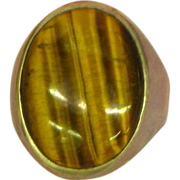 Tiger Eye Outrageous Huge Domed Mans Sterling Silver Ring