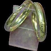 Silver Tone Huge Hoop Pierced Earrings