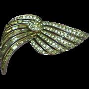 Marcel Boucher Adjustable Movable! Circa late 30's Rhinestone Rhodium Plated Brooch Pin
