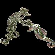 SALE 50% OFF SALE Seahorse Rhinestones Silver Plate Necklace
