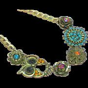 Rhinestones Designer Beads Fashion  Necklace