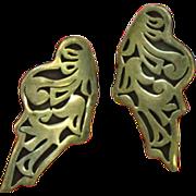 Mexican Mexico Sterling  Native American Hopi Ryan Kuyvaya Earrings