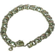 Double Chain Sterling Silver Hearts Bracelet