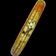 Coral Apple Coral Bangle Bracelet Protected Rare Find!