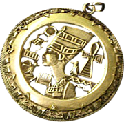 Sterling Silver Nefertiti Queen of Egypt Beautiful! Large Egyptian Pendant