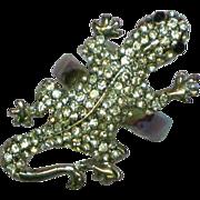 SALE 50% OFF SALE  Gecko Leaping Lizards Rhinestones  Fashion Fun Ring