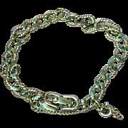 Monet Silver Textured & Flat Link Charm Bracelet