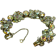 SALE Juliana D&E Book Piece Aurora Rhinestones Clear Crystal Beads Elaborate Bracelet