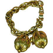 Napier Golden Cumquat Heavy Charm Bracelet