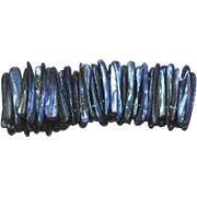 Abalone Peacock Color Stick Stretch Bracelet