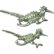 Gerrys Silvertone Roadrunners Set Scatter Pins Brooch