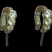 Large CZ Gold Plated  Hoop Pierced Earrings