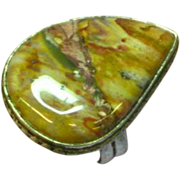 Native American Indian Picture Agate Hand Made Ring