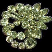 SALE Exquisite Eisenberg Clear Crystal Vintage Rhinestones Brooch Pin