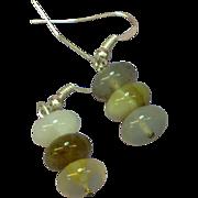 Gemstone Agate Bead Pierced Earrings