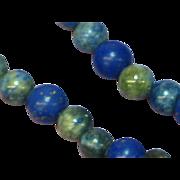 Gemstones Lapis Lazuli Beaded Necklace