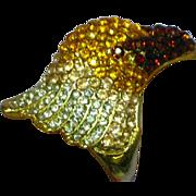 Spectacular Heidi Daus Style Swarovski Pave Rhinestones Eagle Ring