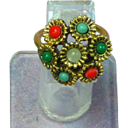 Sarah Coventry Faux Gemstone Dinner/Cocktail Fashion Ring
