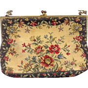 Vintage Tapestry Purse marked Made in France