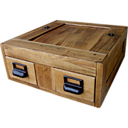 SOLD Vintage Globe-Wernick 2 Drawer Library Card Catalog File Box Drawer USA  Wooden