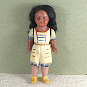 "3 3/4"" Hertwig Indian Girl with Molded Clothes"