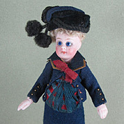 "5"" French Mignonette ~ Handsome Boy in Navy Suit"